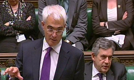 Aistair Darling in the House of Commons on October 8 2008. Photograph: PA Wire