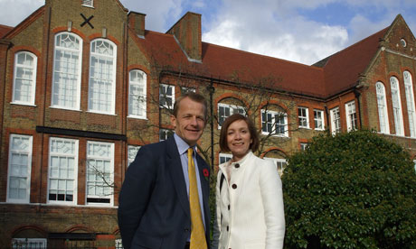 David Laws and Bridget Fox. Photograph: Bridget Fox