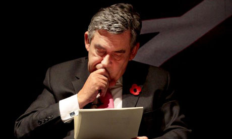 Gordon Brown in Edinburgh on October 31 2008. Photograph: David Cheskin/PA Wire