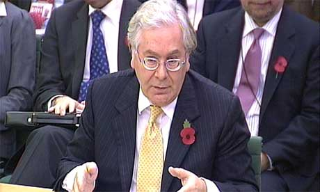 Mervyn King Darling speaking to the Commons treasury committee