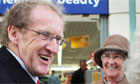 Labour candidate Lindsay Roy meets shoppers while campaigning in the Glenrothes byelection