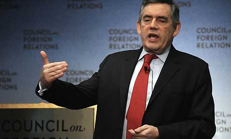 Gordon Brown in New York