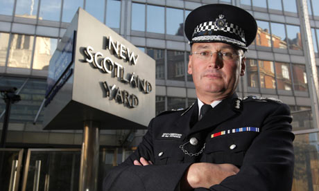 Sir Paul Stephenson, the commissioner of the Metropolitan police. Photograph: Dominic Lipinski/PA
