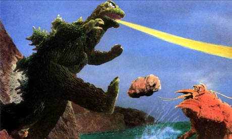 Godzilla Versus the Sea Monster: Godzilla fights Ebirah, a giant lobster. Photograph: Ronald Grant