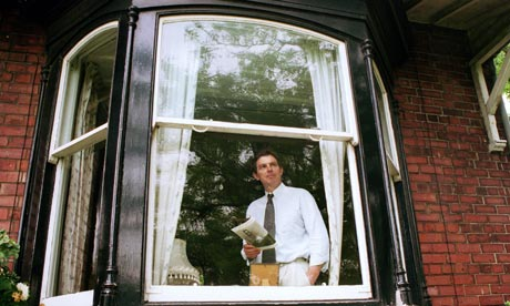 Tony Blair looking out from his Sedgefield constituency home Myrobella at Trimdon in 1994