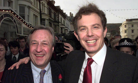 Tony Blair with newly elected Wirral south MP Ben Chapman in 1997