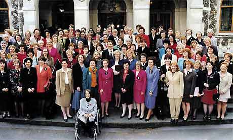 The famous photograph of the women MP's after Labour's victory in 1997