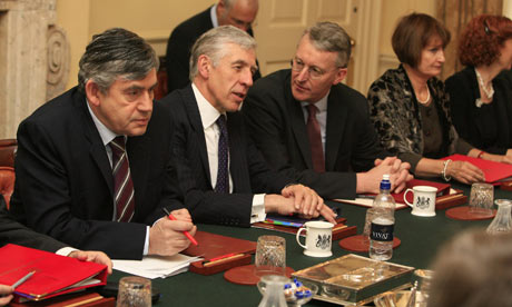 Gordon Brown's first cabinet meeting after the reshuffle