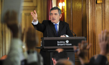 Gordon Brown's monthly news conference
