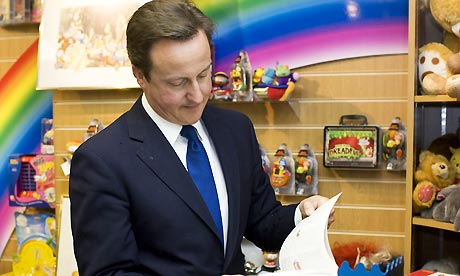 David Cameron visiting Carterton, Oxon, Britain - 16 Apr 2009