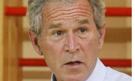George Bush, who claimed the use of waterboarding helped save British lives.