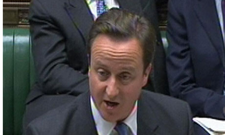David Cameron gives a statement to the House of Commons on last week's G20 summit in South Korea