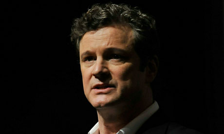 Colin Firth speaking at the Dubai International Film Festival