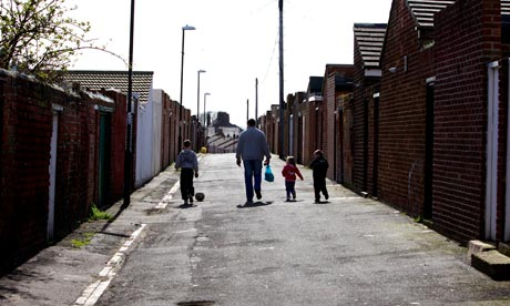 A family walking home in Ryhope in the newly created Sunderland Central constituency