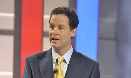Nick Clegg during the first leaders' debate