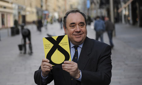 SNP leader Alex Salmond launches his party's manifesto in Glasgow