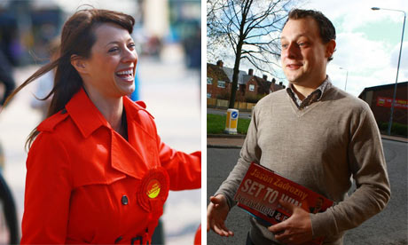Ashfield candidates Gloria De Piero (Labour) and Jason Zadrozny (Liberal Democrats)