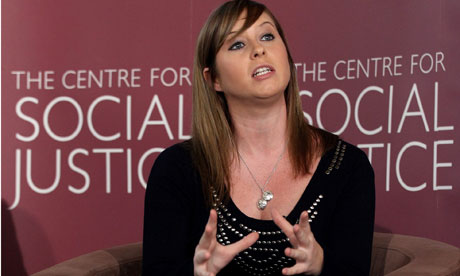 Actor Brooke Kinsella speaks at a Conservative party event in south London on 27 April