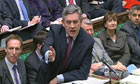 Gordon Brown at prime minister's questions today