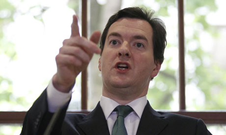 George Osborne speaks during a press conference at the Treasury on 17 May 2010