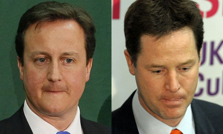 David Cameron and Nick Clegg montage