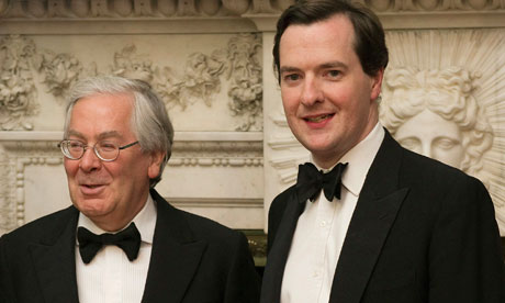 Mervyn King and George Osborne on 16 June 2010