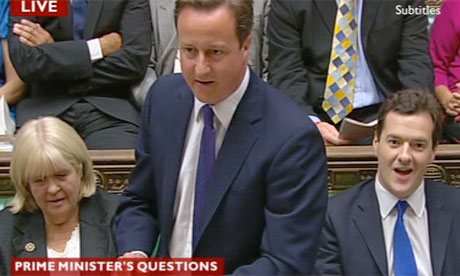 David Cameron at PMQs 23 June 2010