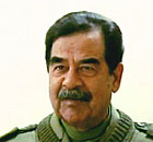 Former Iraqi president Saddam Hussein in April 2003