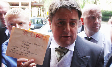 Nick Griffin, whose Buckingham Palace garden party invitation has been withdrawn