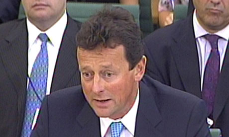 BP boss Tony Hayward appears before the energy and climate change committee in the House of Commons
