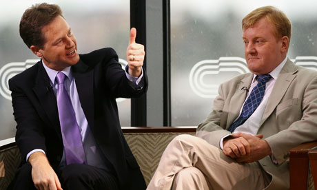 Nick Clegg and Charles Kennedy appear on the Andrew Marr show at the Liberal Democrat conference