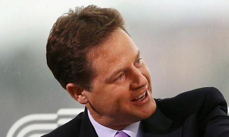 Nick Clegg on the Andrew Marr show at the Liberal Democrat Conference