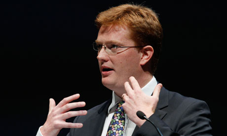 Danny Alexander delivers a speech at the Lib Dem conference in Liverpool
