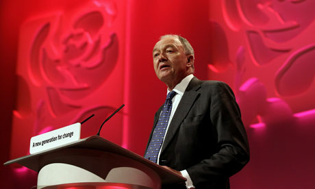Ken Livingstone speaking at the Labour party conference in Manchester
