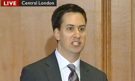 Ed Miliband speaks at his press conference on 10 January 2011