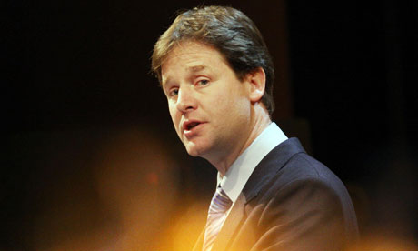 Nick Clegg, the Liberal Democrat leader