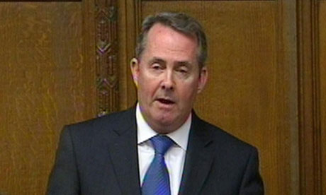 Liam Fox makes a statement to MPs