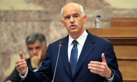 The Greek prime minister, George Papandreou
