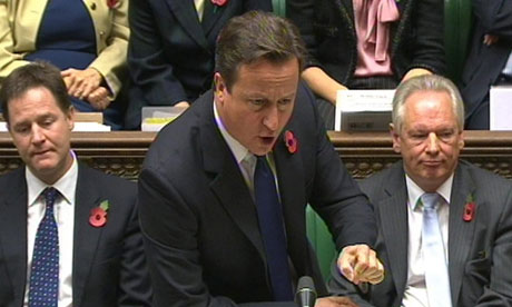 David Cameron during prime minister's questions