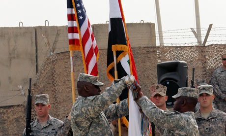 Ceremony marking the end of US military engagement in Iraq