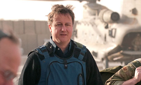 David Cameron on a previous visit to Afghanistan