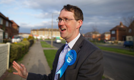 Paul Maynard canvassing in the Blackpool North constituency before last year's general election