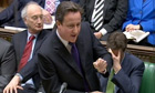 David Cameron speaks during prime minister's questions in the House of Commons