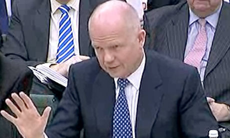 William Hague at the Commons defence committee on 9 March 2011