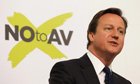 David Cameron delivers a speech against the proposed change to the UK voting system