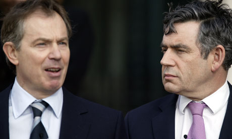 Tony Blair and Gordon Brown, who have not been invited to the royal wedding