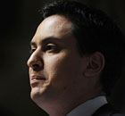 Ed Miliband delivers his speech on public services and NHS reform