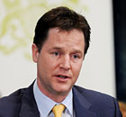 Nick Clegg, who will urge firms to make internships more accessible to disadvantaged youngsters