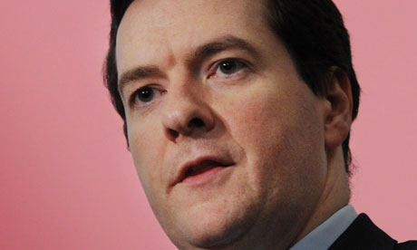 George Osborne addressing the British Chambers of Commerce conference