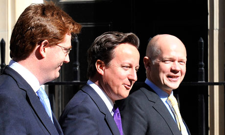One yearDavid Cameron, Danny Alexander and William Hague arriving for a cabinet meeting
